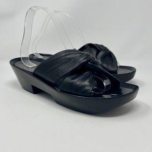 Robert Clergerie Black Leather Platform Sandals